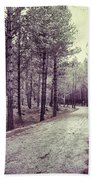 The Forest Road Retro Beach Towel
