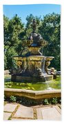 The Fountain - Iconic Fountain At The Huntington Library. Beach Towel
