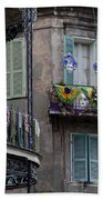 The French Quarter During Mardi Gras Beach Towel