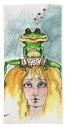 The Frog And The Princess Beach Towel