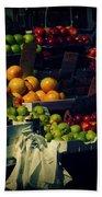 The Fruit Seller - New York City Street Scene Beach Towel