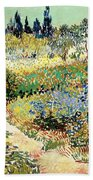 The Garden At Arles, 1888 Beach Towel