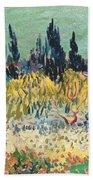 The Garden At Arles, Detail Beach Towel