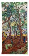 The Garden Of St Pauls Hospital At St. Remy Beach Towel by Vincent Van Gogh