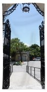 The Gate At Vizcaya Gardens Beach Towel