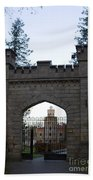 The Gates Leading Into New Sigulda Castle Beach Towel