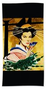 The Geisha Beach Towel
