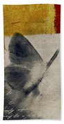 The Giant Butterfly And The Moon - S09-22cbrt Beach Towel by Variance Collections