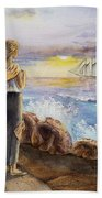 The Girl And The Ocean Beach Towel