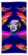 The Girl With The Dragon Moustache Beach Towel