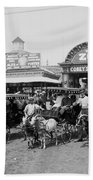 The Goat Carriages Coney Island 1900 Beach Towel