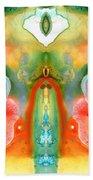 The Goddess - Abstract Art By Sharon Cummings Beach Towel