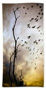 The Gods Laugh When The Winter Crows Fly Beach Towel by Bob Orsillo