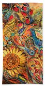 The Gold Griffin Beach Towel