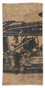 The Gold Medal Motorcycle 1925 Beach Towel