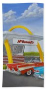 The Golden Age Of The Golden Arches Beach Towel