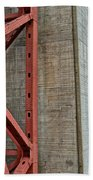 The Golden Gate - Fort Point View Beach Towel