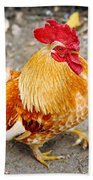 The Golden Rooster Beach Towel