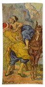 The Good Samaritan - After Delacroix Beach Towel