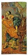 The Good Samaritan After Delacroix 1890 Beach Towel