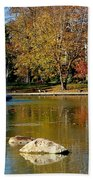 The Goodale Park  Fountain Beach Towel