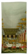 The Gothic Dining Room At Carlton House Beach Towel
