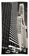 The Grace Building And The Chrysler Building - New York City Beach Towel