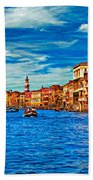 The Grand Canal Impasto Beach Towel