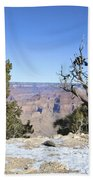 The Grand Canyon In January Beach Towel