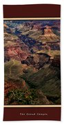 The Grand Canyon Beach Towel by Tom Prendergast