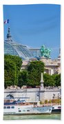 The Grand Palais And The Alexandre Bridge Paris Beach Towel