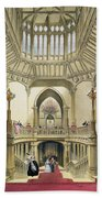 The Grand Staircase, Windsor Castle Beach Towel
