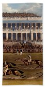 The Grand Stand At Epsom Races, Print Beach Sheet