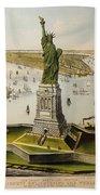 The Great Bartholdi Statue Beach Towel