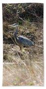 The Great Blue Heron Beach Towel