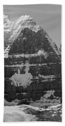 1m3752-bw-the Great North Face Of North Twin Beach Towel