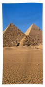 The Great Pyramids Giza Egypt Beach Towel