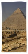The Great Pyramids Of Giza Egypt  Beach Towel by Ivan Pendjakov