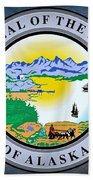 The Great Seal Of The State Of Alaska  Beach Towel