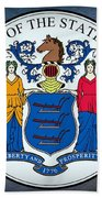 The Great Seal Of The State Of New Jersey Beach Towel