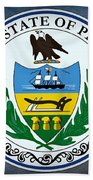 The Great Seal Of The State Of Pennsylvania  Beach Towel