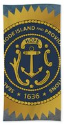 The Great Seal Of The State Of Rhode Island Beach Towel