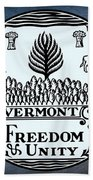 The Great Seal Of The State Of Vermont Beach Towel