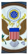 The Great Seal Of The United States  Beach Towel