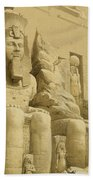 The Great Temple Of Abu Simbel Beach Towel