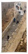 The Great Wall Of China At Badaling - 9 - A Close Up  Beach Towel