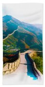 The Great Wall Of China Beach Towel