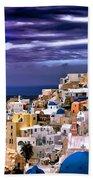 The Greek Isles Santorini Beach Towel