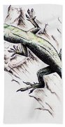 The Green Lizard Beach Towel