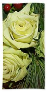 The Green Roses Of Winter Beach Towel